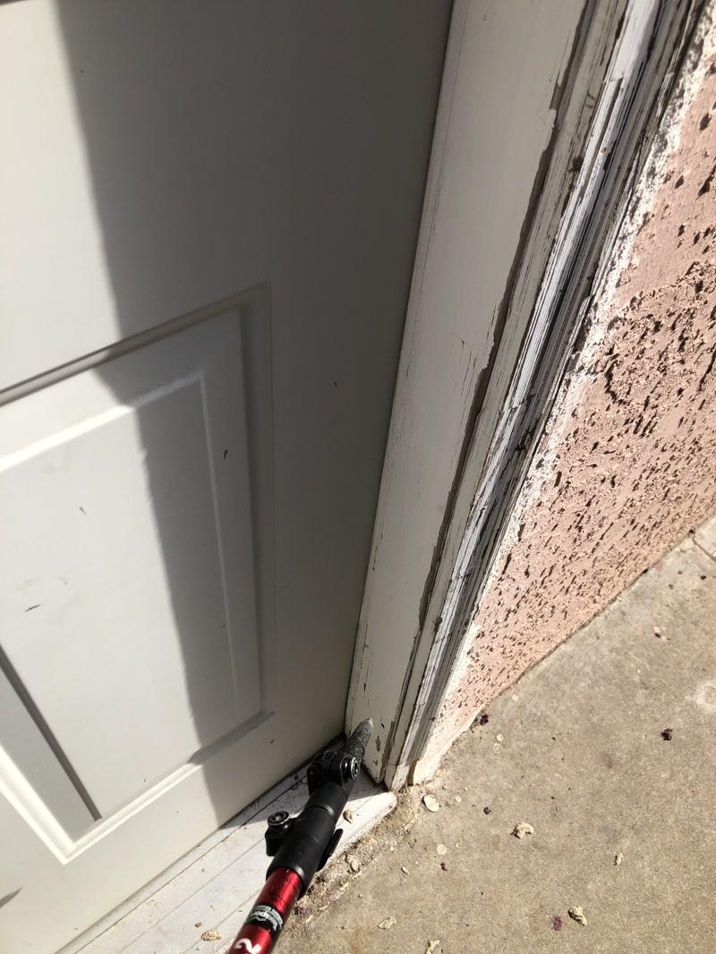 Exterior Trim Garage And Pedestrian Door Jambs And The