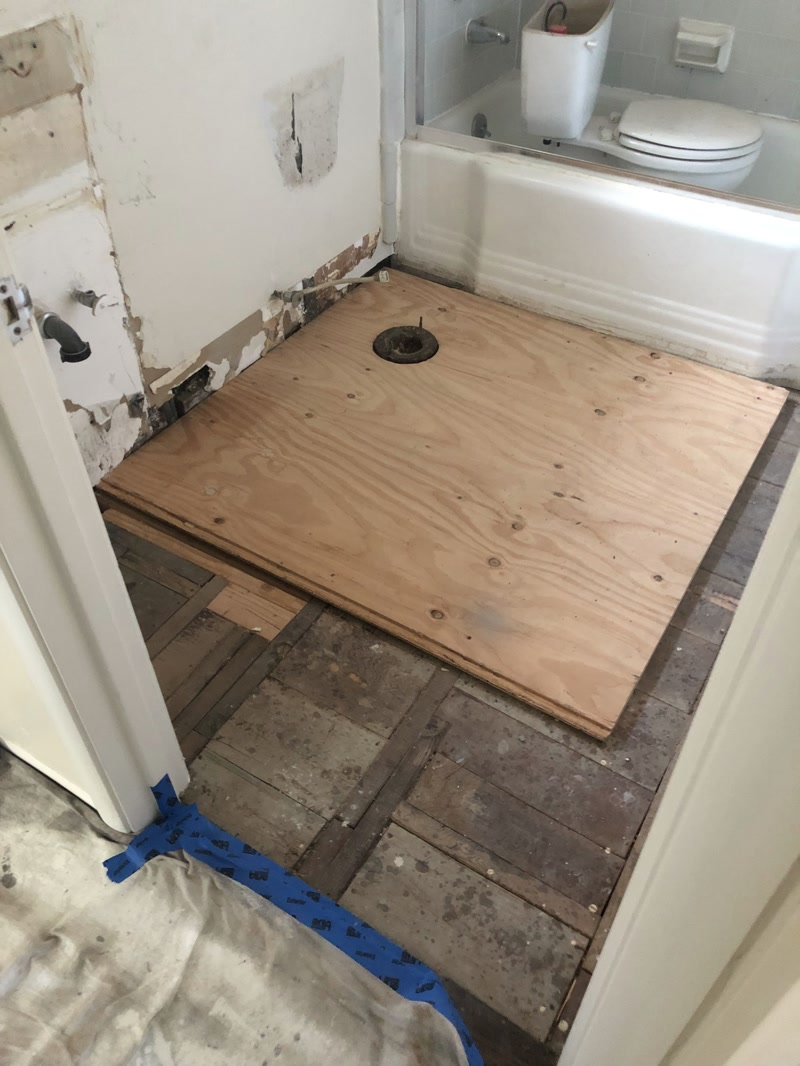 The Subfloor Repair And Reinstall Vinyl Covering The