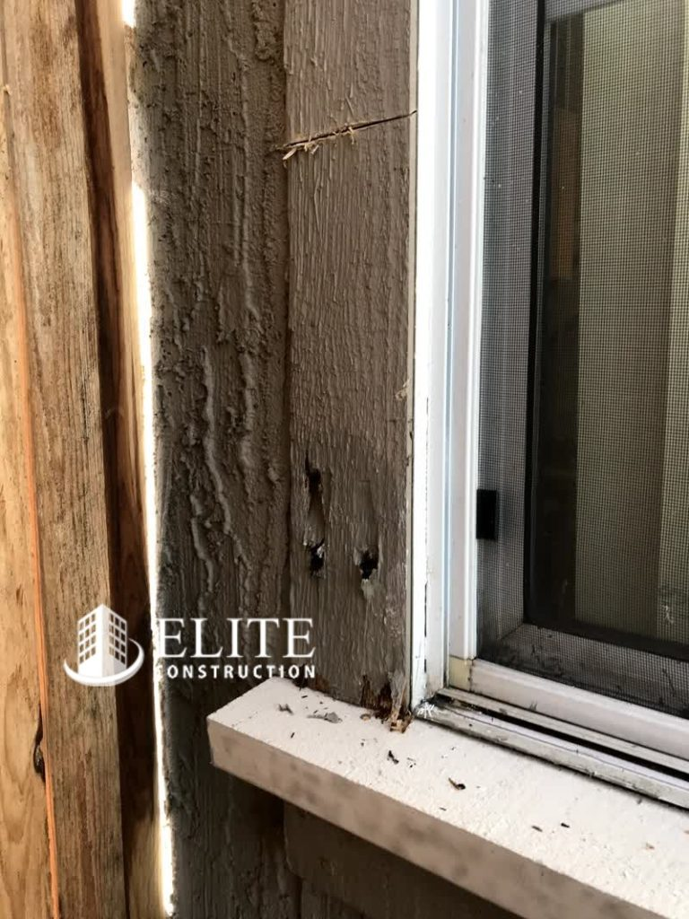 The Exterior Trim Dry Rot Damage Repair Trim By Elite