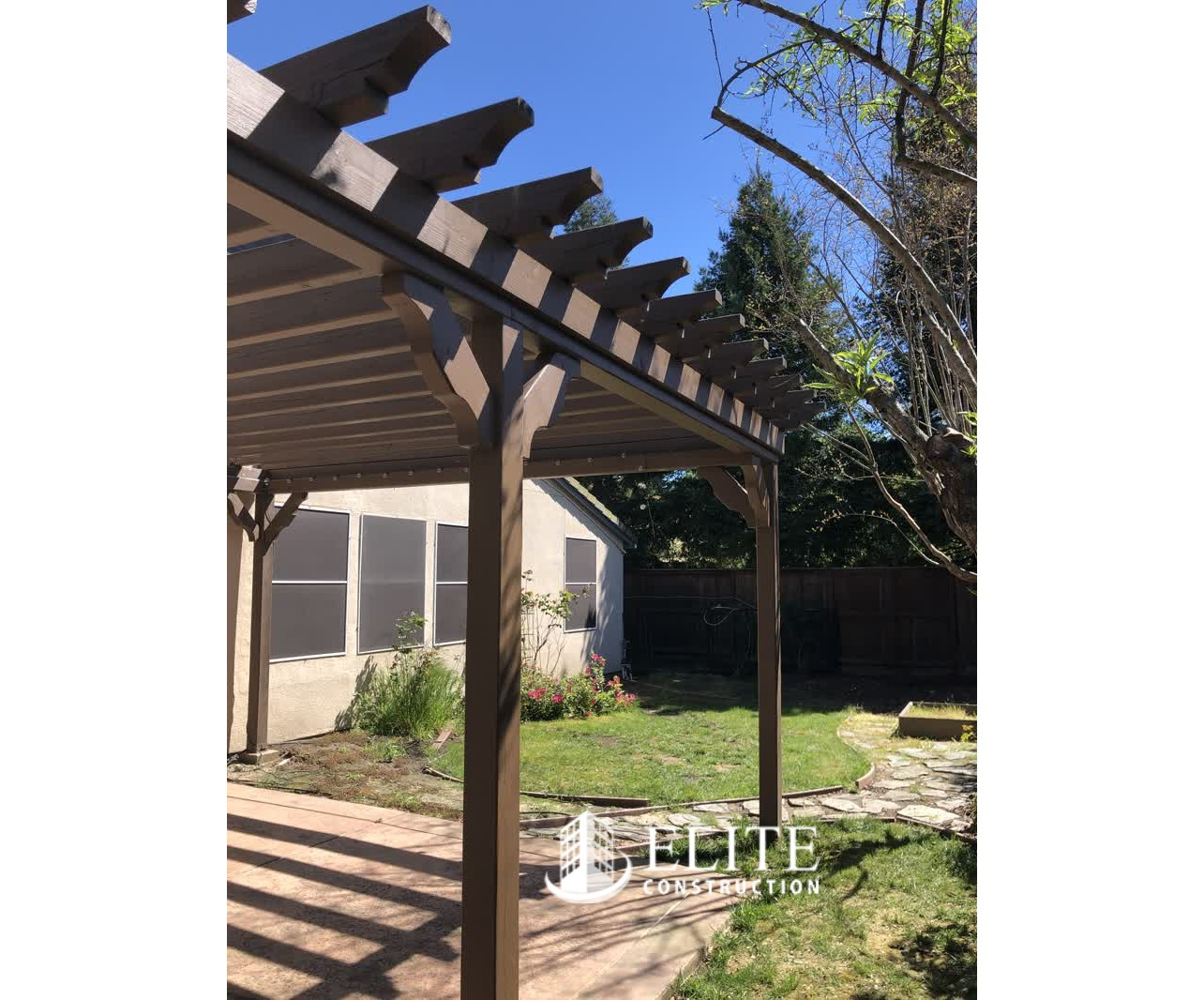 The Exterior Patio Support Post Support Beams Dry Rot
