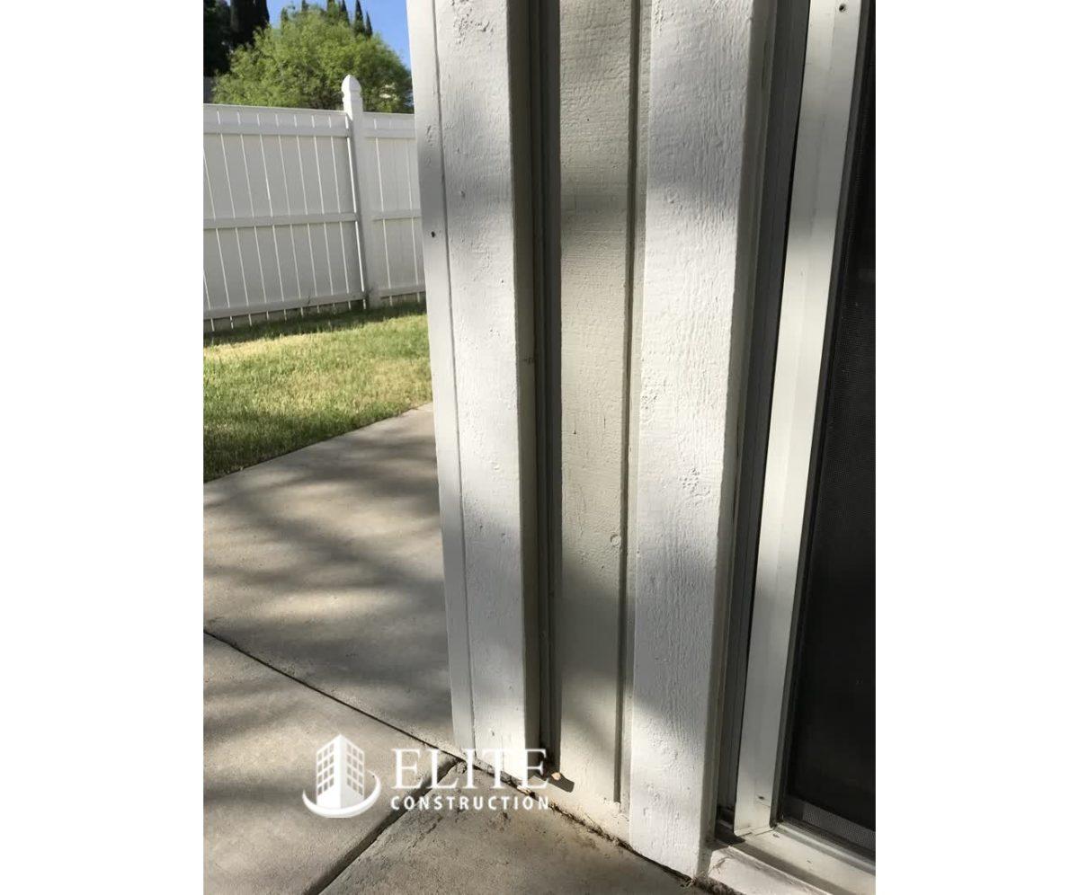 The Garage Door Jamb And Corner Trim Dry Rot Damage Repair