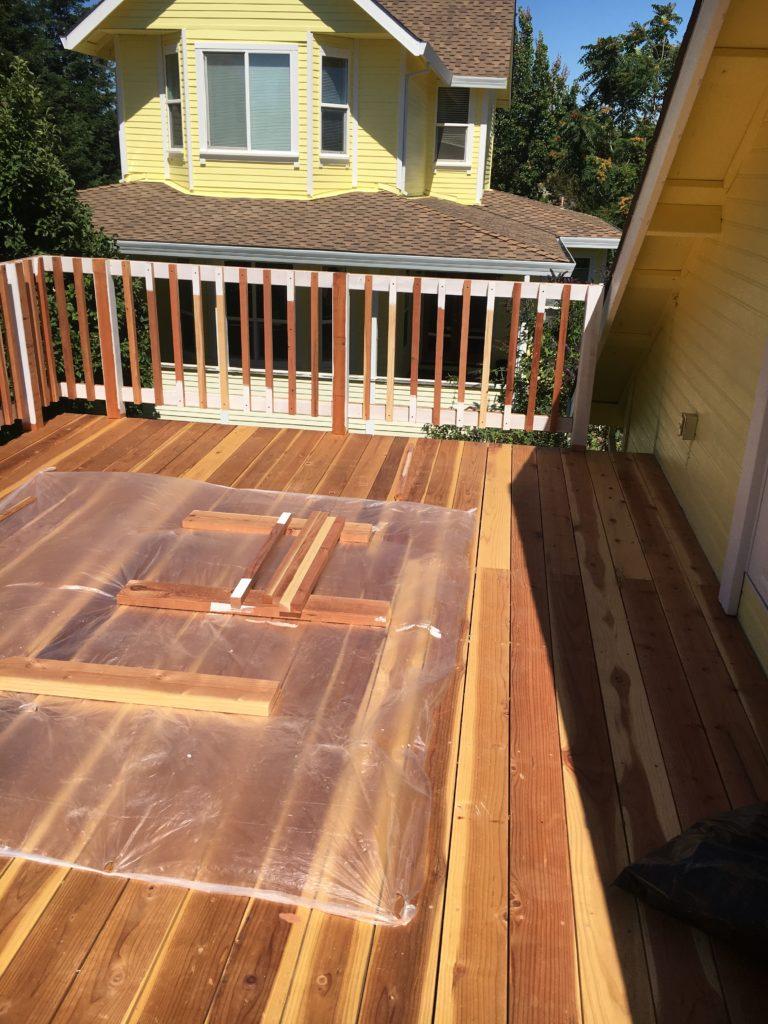 wood deck construction in Sacramento