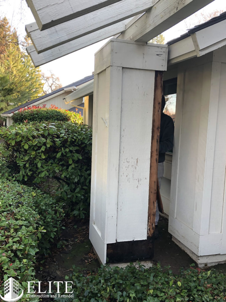 Wood Rot in Porch Column