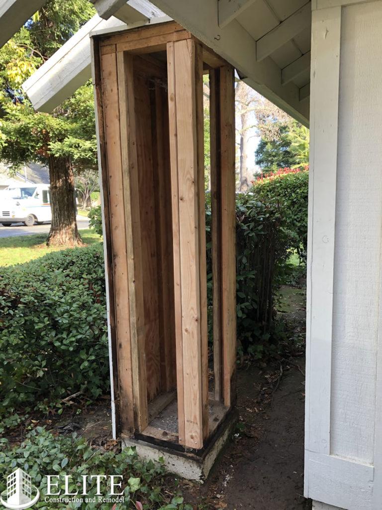 Porch Column Frame Repair