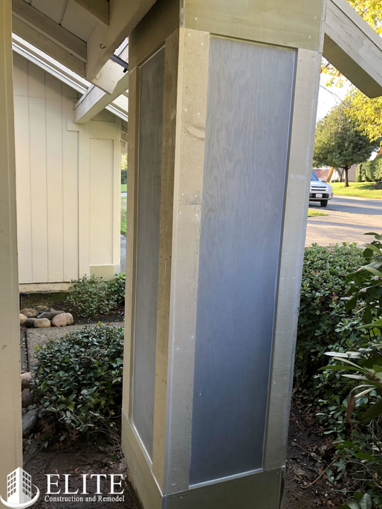 Repared Porch Column
